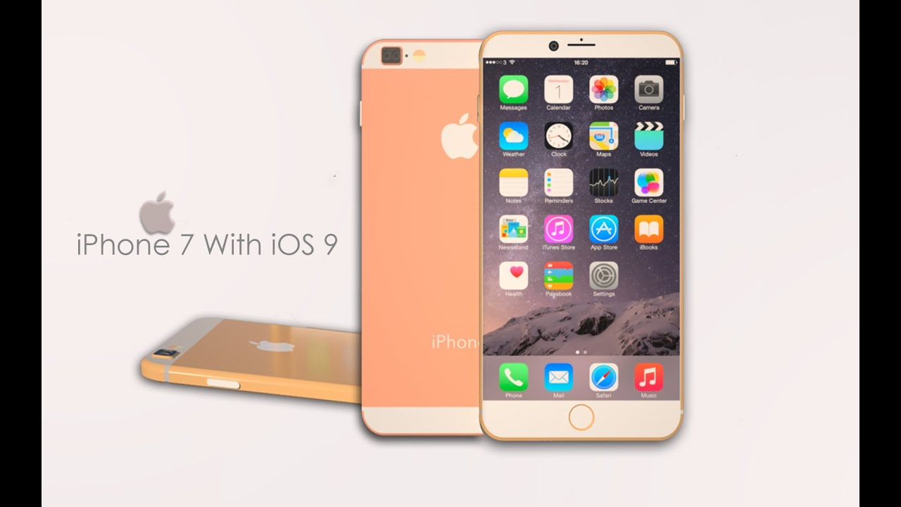 Apple iPhone 7 With iOS 9 New Concept 2015 - YouTube