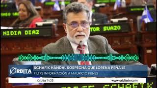 Schafik Hándal sospecha que Lorena Peña le filtre información a Mauricio Funes