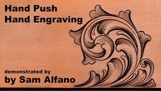 Hand-push hand engraving