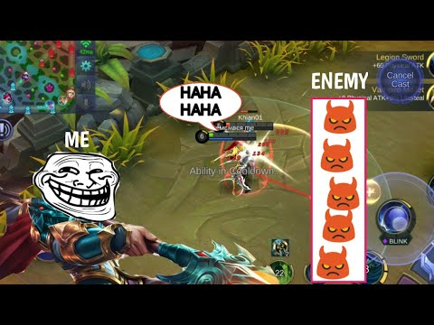 ML PRANK | ENEMY IS SO ANGRY THEY GO AFK | AUTO SAVAGE | MOBILE LEGENDS