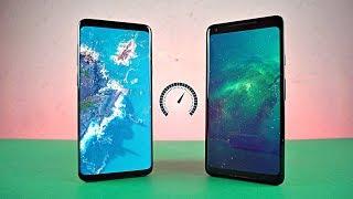 Samsung Galaxy S9 Plus vs Pixel 2 XL - Speed Test! (4K)