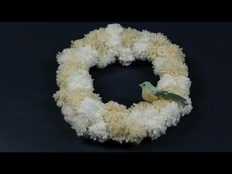 d6e8f48277e How to Make a Pom-Pom Wreath - YouTube
