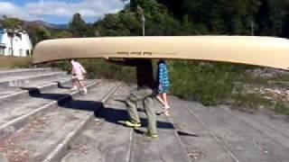 シルバーウィークにならまた湖でカヌーツーリング その後カヌーを担いで...