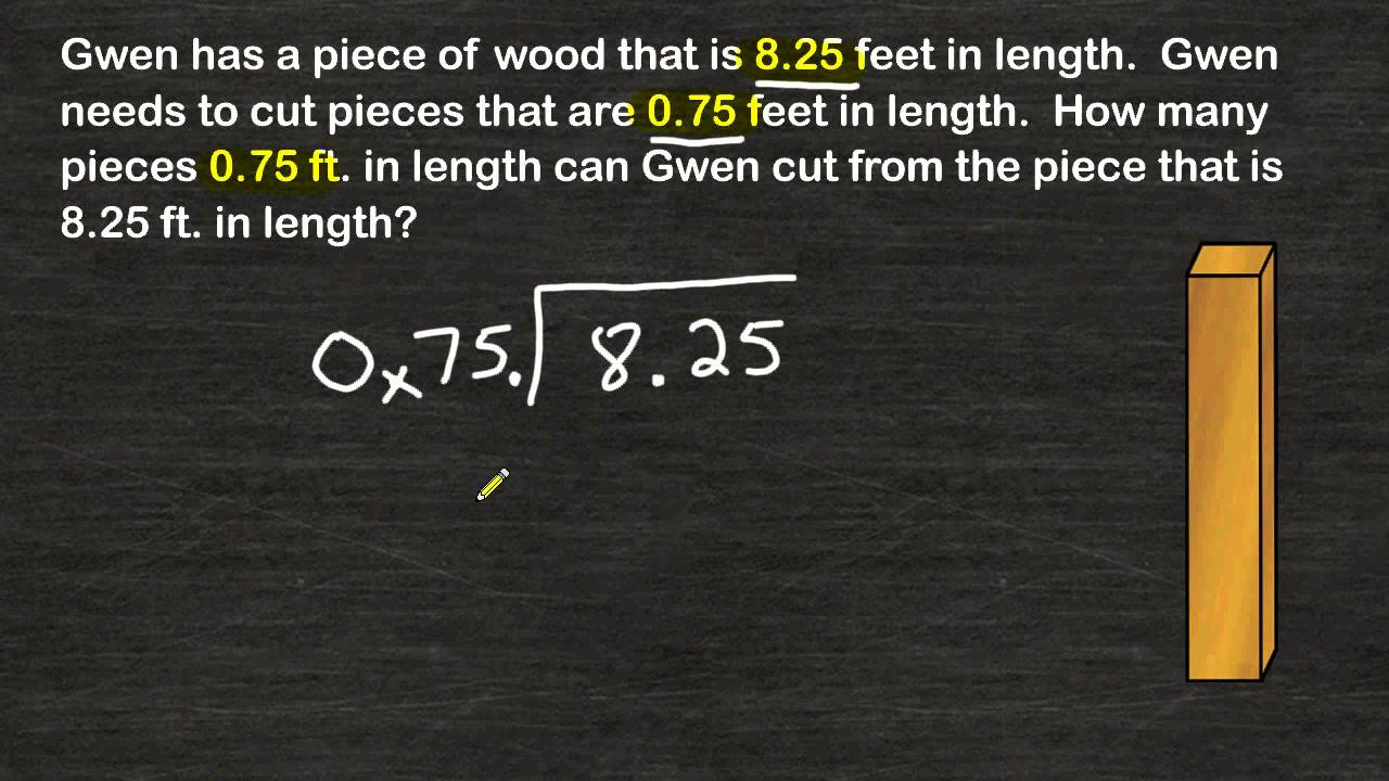 small resolution of Dividing A Decimal By A Decimal Word Problem - YouTube