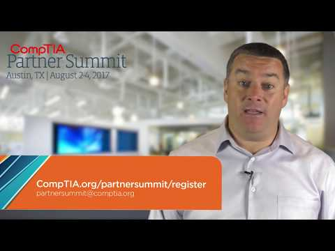 CompTIA 2017 Partner Summit group discount message from global head of sales, John McGlinchey