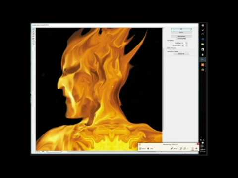 "Pyro Painter Process painting title ""pyromancer"""