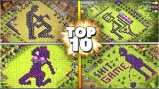 10 Crazy BANNED Clash Of Clans Funny, Sexual & Troll CoC Base Builds Compilation 2018