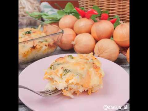 Быстрая и сытная рисовая запеканка с сыром