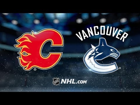 Calgary Flames Vs. Vancouver Canucks | NHL Game Recap | October 14, 2017 | HD