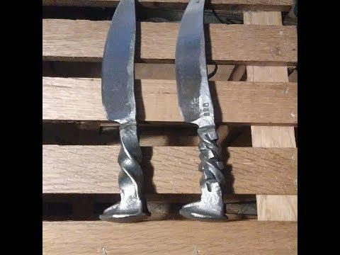 Blacksmithing: Forging A Railroad Spike Knife- (1)