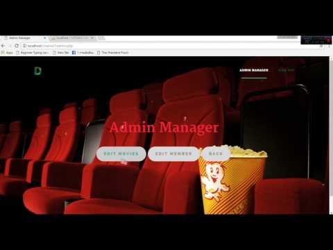 Booking Cinema System  | Php web project
