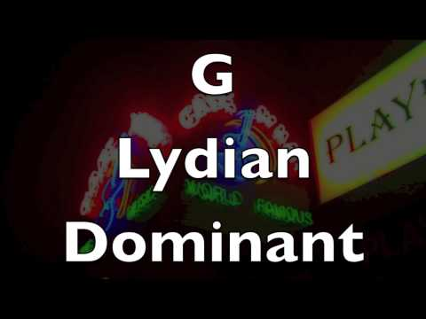 Lydian Dominant Scale - Groove Jam Backing Track