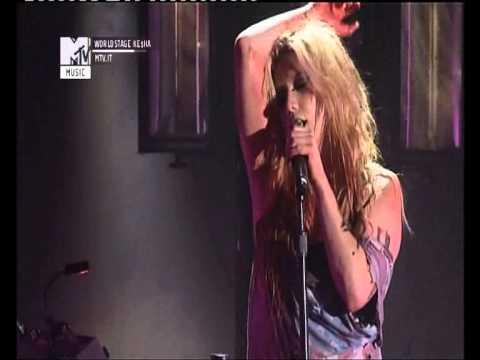 kesha mtv world stage-Animal live ke$ha