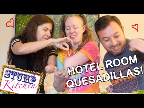 COOKING WITH A HOTEL ROOM IRON??? Vegan Quesadillas