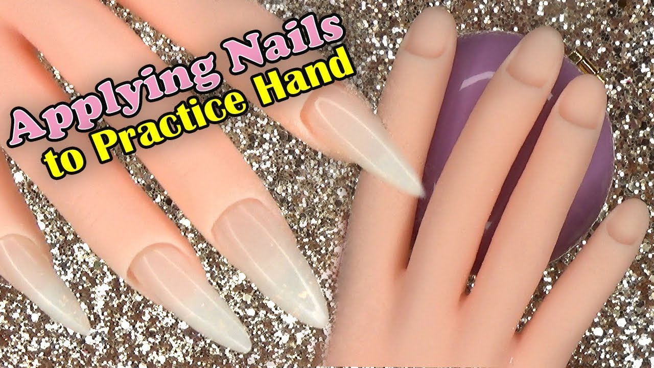 How To Lying Nails A Practice Hand Longhairprettynails