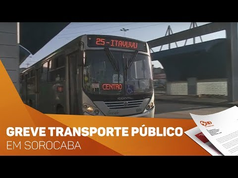 Greve no transporte público em Sorocaba - TV SOROCABA/SBT