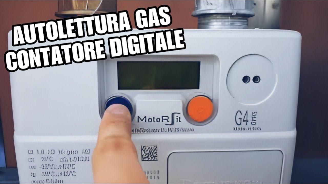 Come Fare Autolettura Gas Contatore Digitale Youtube