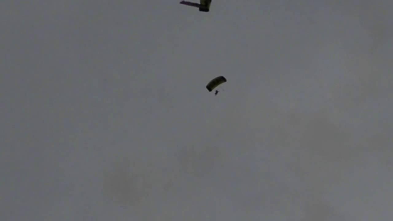 US Navy Leap Frogs Parachute into Fenway Park