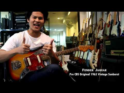 Review Fender Jaguar 1965 Pre CBS Original Vintage Sunburst By Fusionmusic