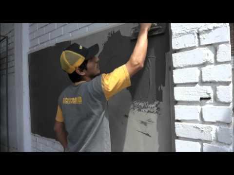 Microcemento s a c aplicacion en paredes youtube - Paredes de microcemento ...
