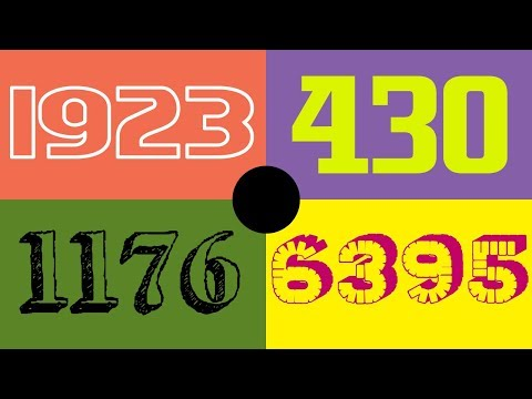 Colorful Numbers 1 - 16,384 [HD] [Special Edition] [MANY FONTS]