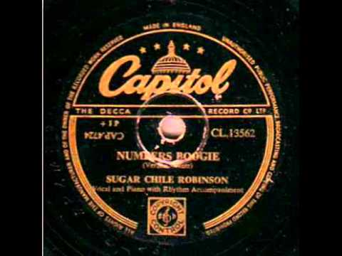 SUGAR CHILE ROBINSON. NUMBERS BOOGIE. 78 RPM.