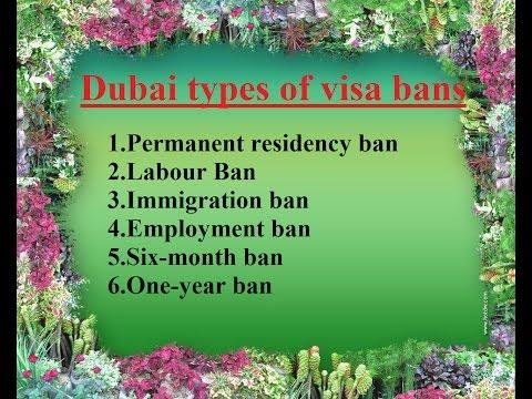 Dubai Visa Ban //How to avoid getting a visa ban in dubai?