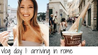 VLOG DAY 1: ARRIVING IN ROME