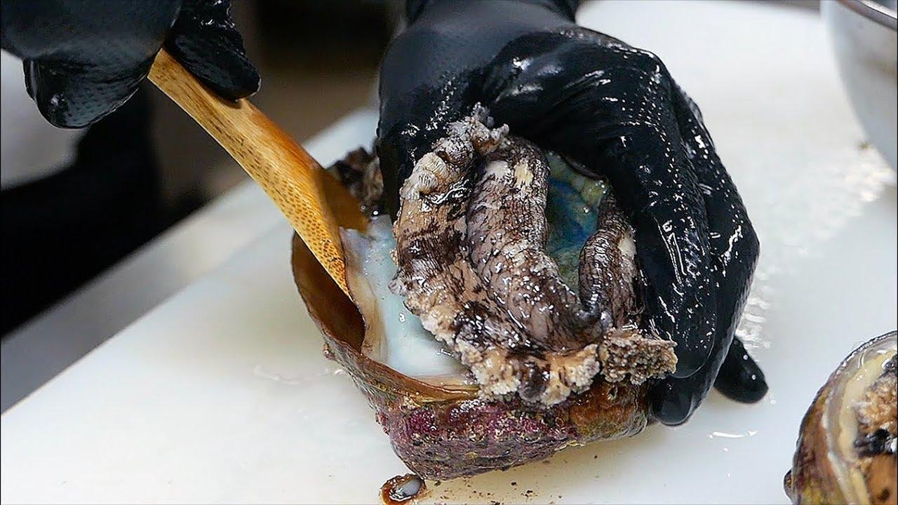 Japanese Food Giant Abalone Liver Rice Sushi Teruzushi Japan Youtube