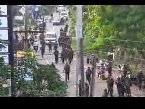 Sri Lankan army Killing Fields - Rathupaswala Protest Unedited Video