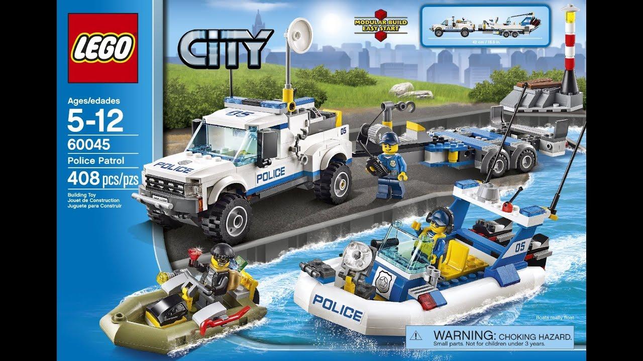 lego city police set 60045 timelapse youtube