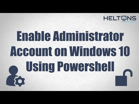 Enable or Disable Administrator Account with Powershell (CMD) in Windows 10