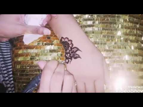Simple Beautiful Mehndi design tutorial step by step thumbnail