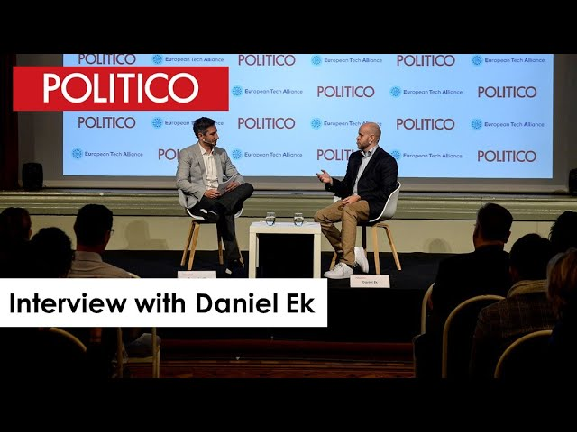 POLITICOs interview with Daniel Ek