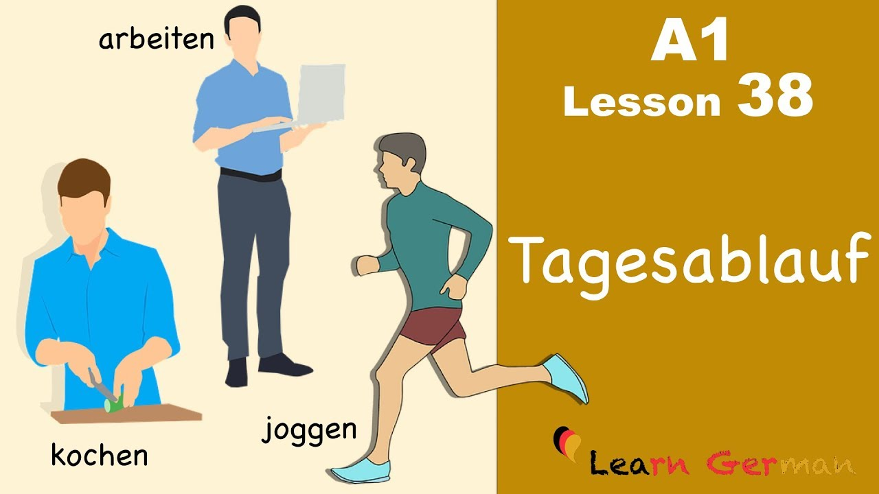 Learn German | Tagesablauf | Daily routine | German for beginners | A1 - Lesson 38