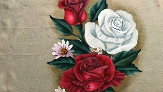 Aprenda a Pintar Rosa Branca