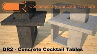 Concrete Cocktail Table | Custom Concrete Furniture | Coffee Tables