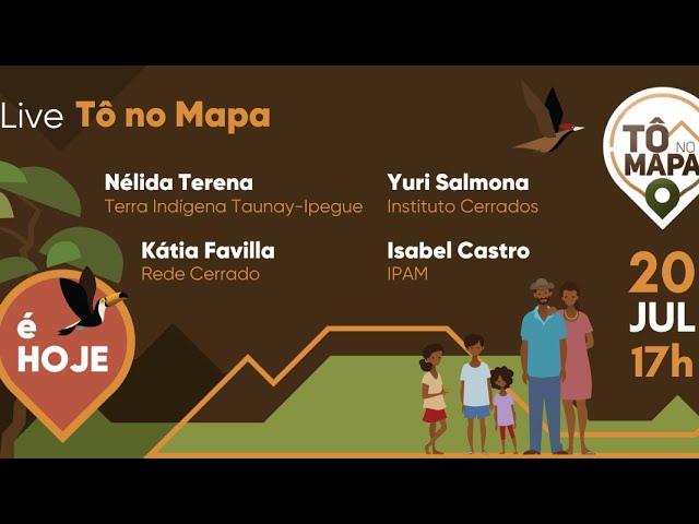 Live Tô no Mapa: 1º relatório de povoamento