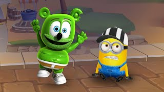 WHO IS THE BEST?GUMMY BEAR RUNNING  vs MINION from Despicable Me?