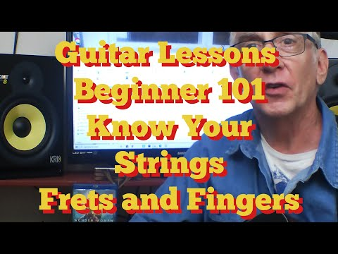 Learn How To Play Guitar   Lesson  1   Beginners 101 Know Your Guitar Strings   Frets   Fingers