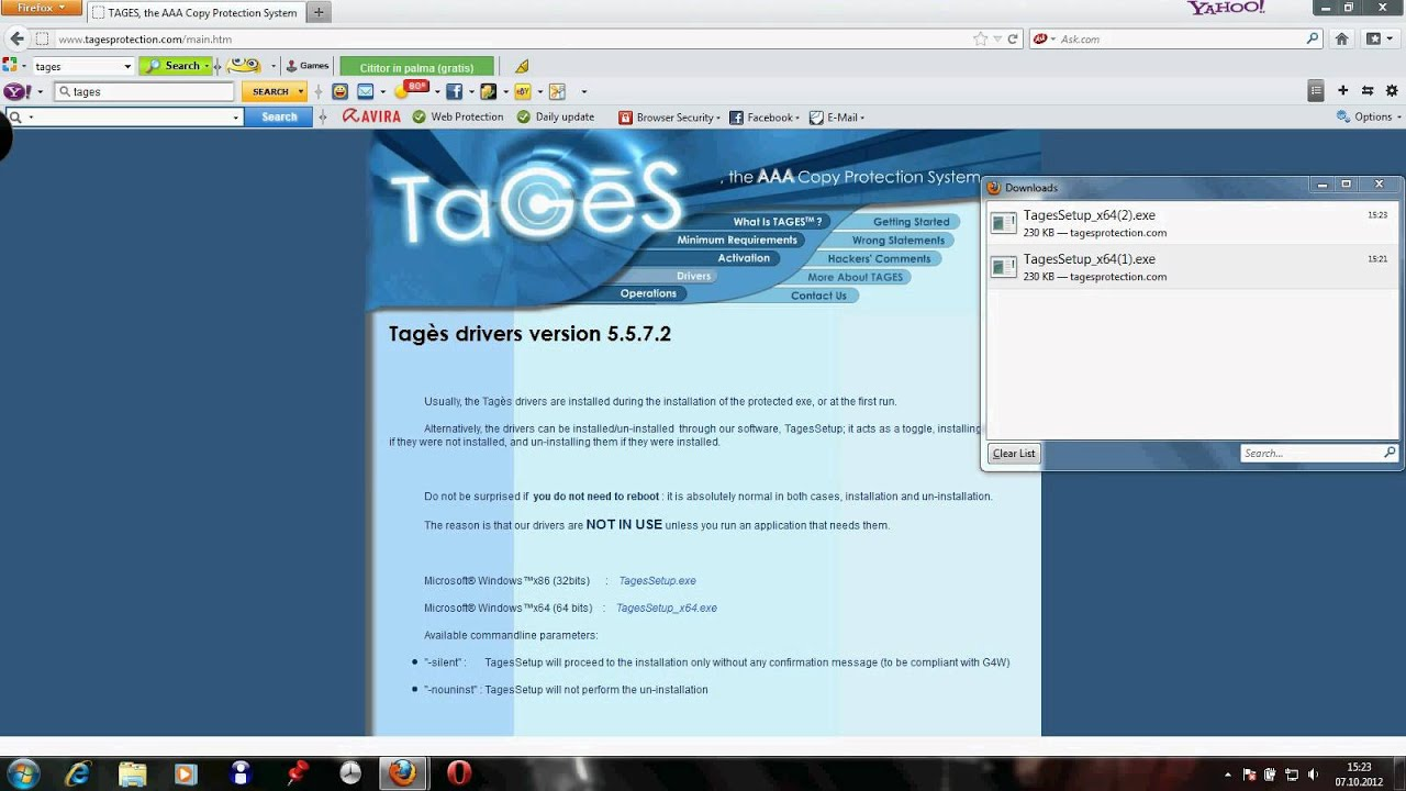 UNINSTALL TAGES DRIVERS FOR WINDOWS 7