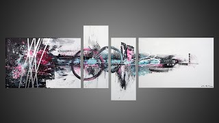 Acrylic Painting Abstract Art with Palette Knife | Verve