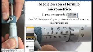 Medida Tornillo micrométrico y error
