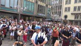 Flashmob Köln 7.6.2014 Pipes & Drums
