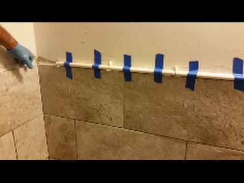 How To Install Mosaic Tile In Bathroom Shower Part 2 Travertine Pencils Liners Installation