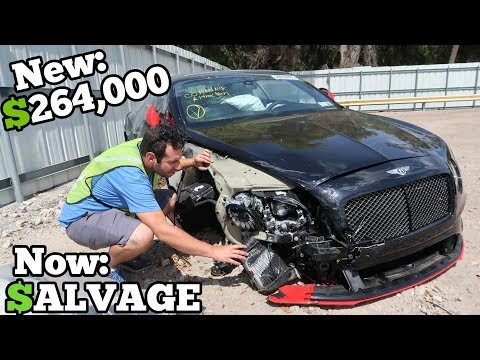 A Rare 700HP WRECKED Bentley Showed Up at the Salvage Auction CHEAP! How Much Should I Bid?