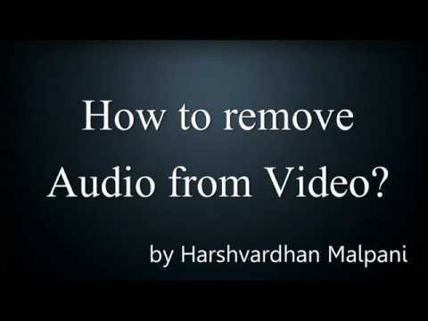 How to remove Audio from any Video using VLC Media Player? Tutorial For Windows users