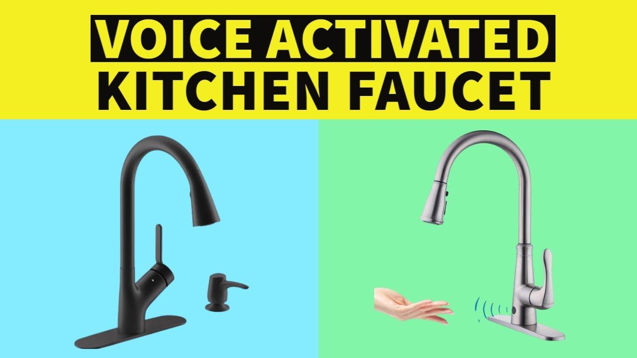 kitchen faucet best voice activated smart kitchen faucets