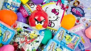 50 SURPRISE EGGS BLIND BAGS! Shopkins Littlest Pet Shop Mashems Hello Kitty Kinder Surprise Play Doh