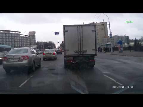 Minsk January 2014.От ул.Некрасова до аэропорта Минск-1.
